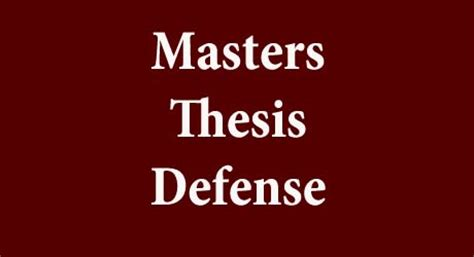 Mastering Your PhD: Defending Your Thesis With Flair